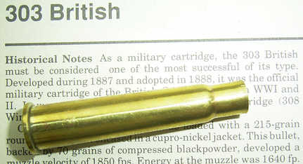 303 Case over 'Cartridges of the World'  -  6th Edition - Frank C. Barnes)